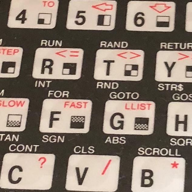 Tastatur des Sinclair ZX81