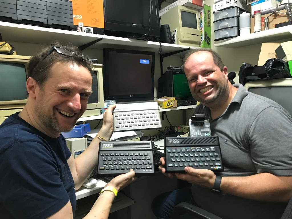 Juan and I with TK und Timex Computers