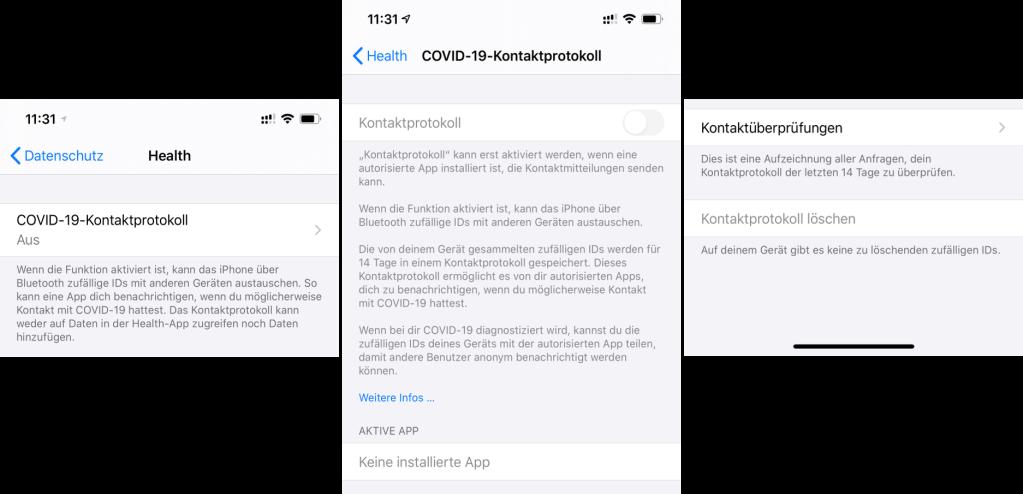 COVID-19-Kontaktprotokoll